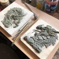 Dragons in clay wip