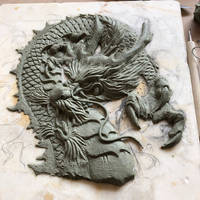 Japanese dragon in clay wip
