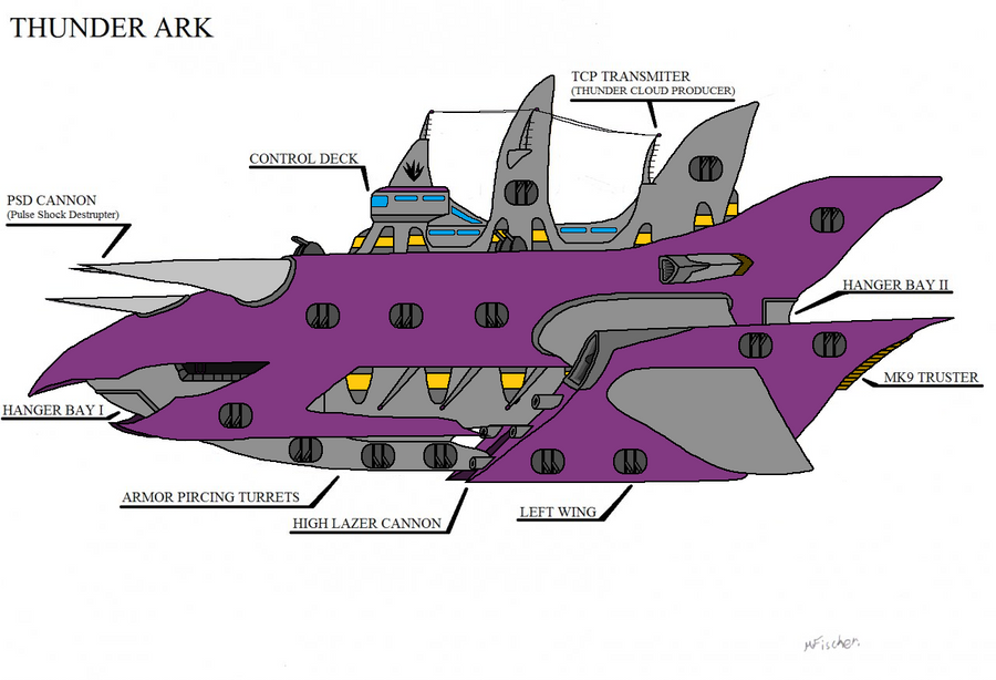 Thunder ark colored by metalzaki