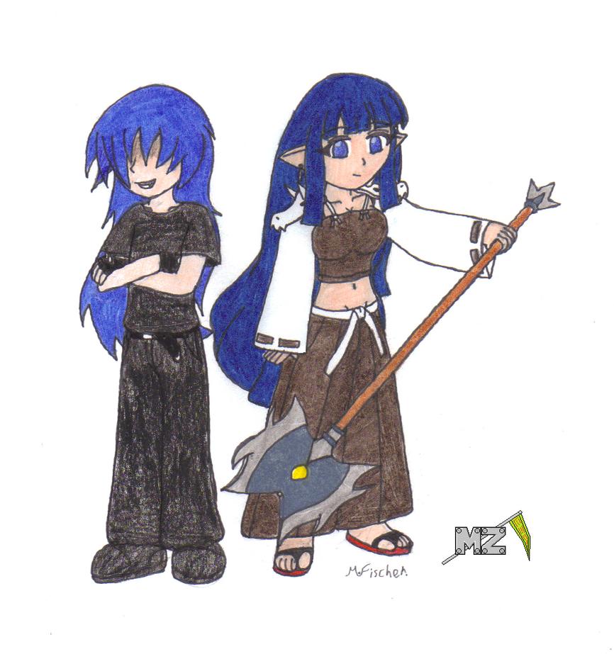 Teenaged Artemis and Chino by metalzaki