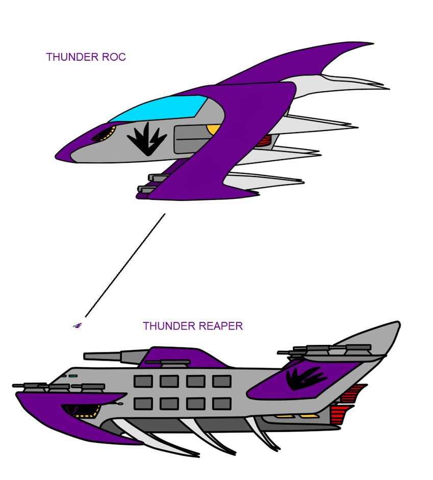 Thunder Roc and Thunder Reaper by metalzaki
