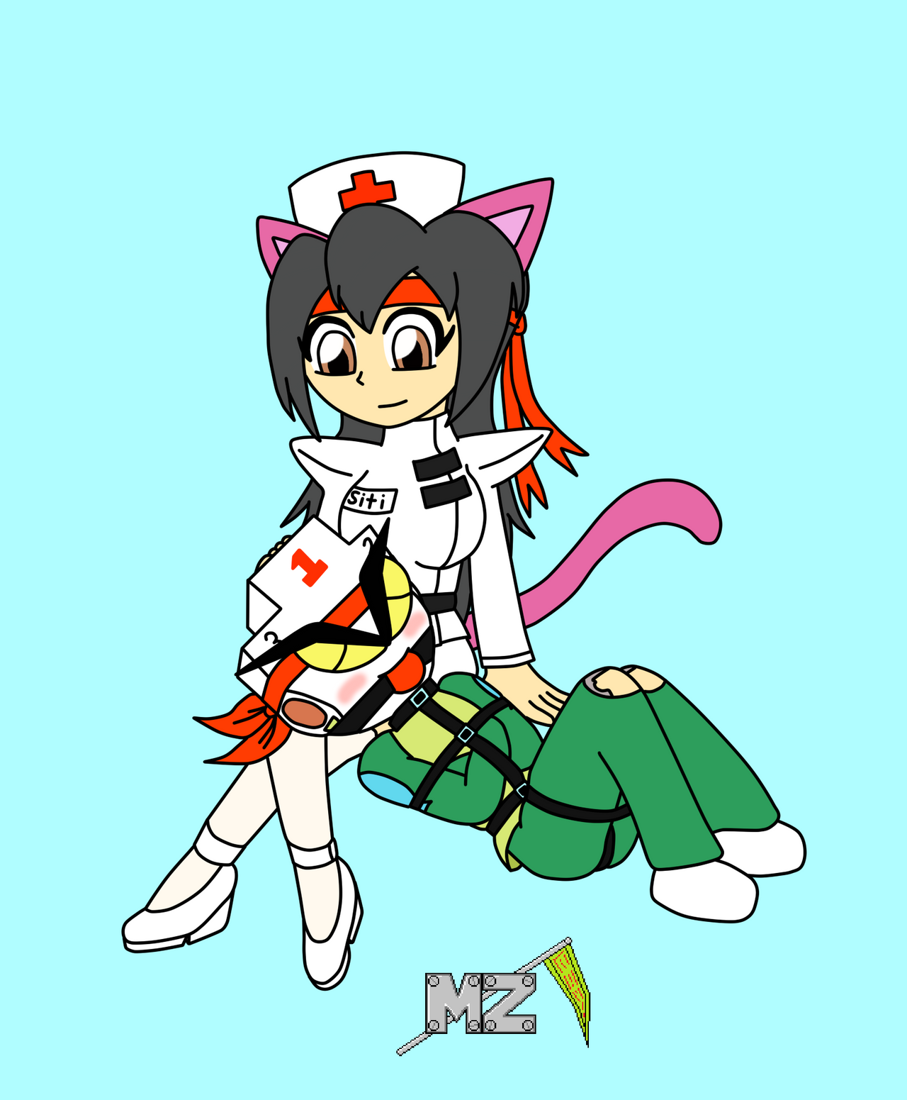 Nurse Siti gets nuzzled by metalzaki