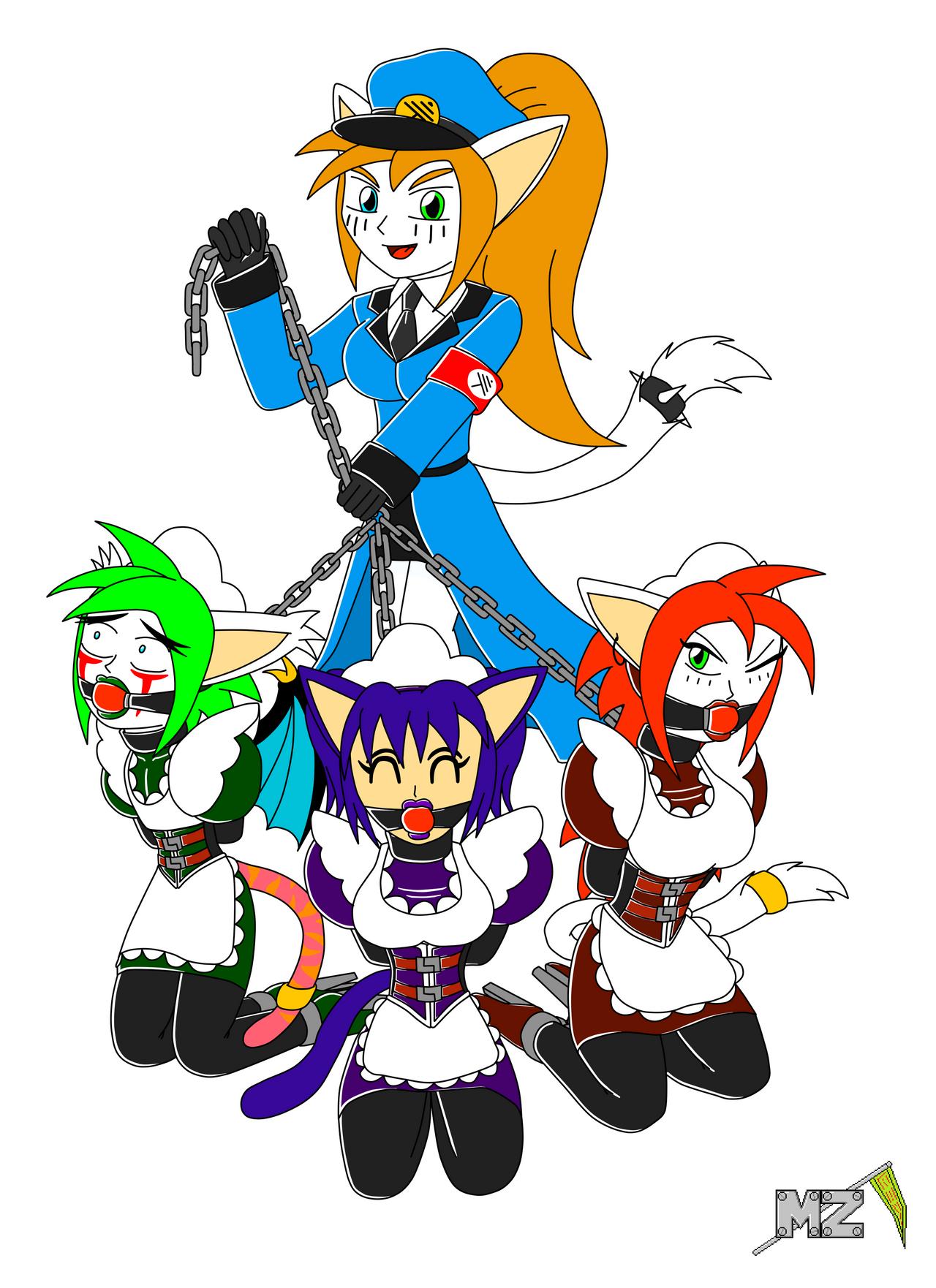 Terra's Chain Maids by metalzaki
