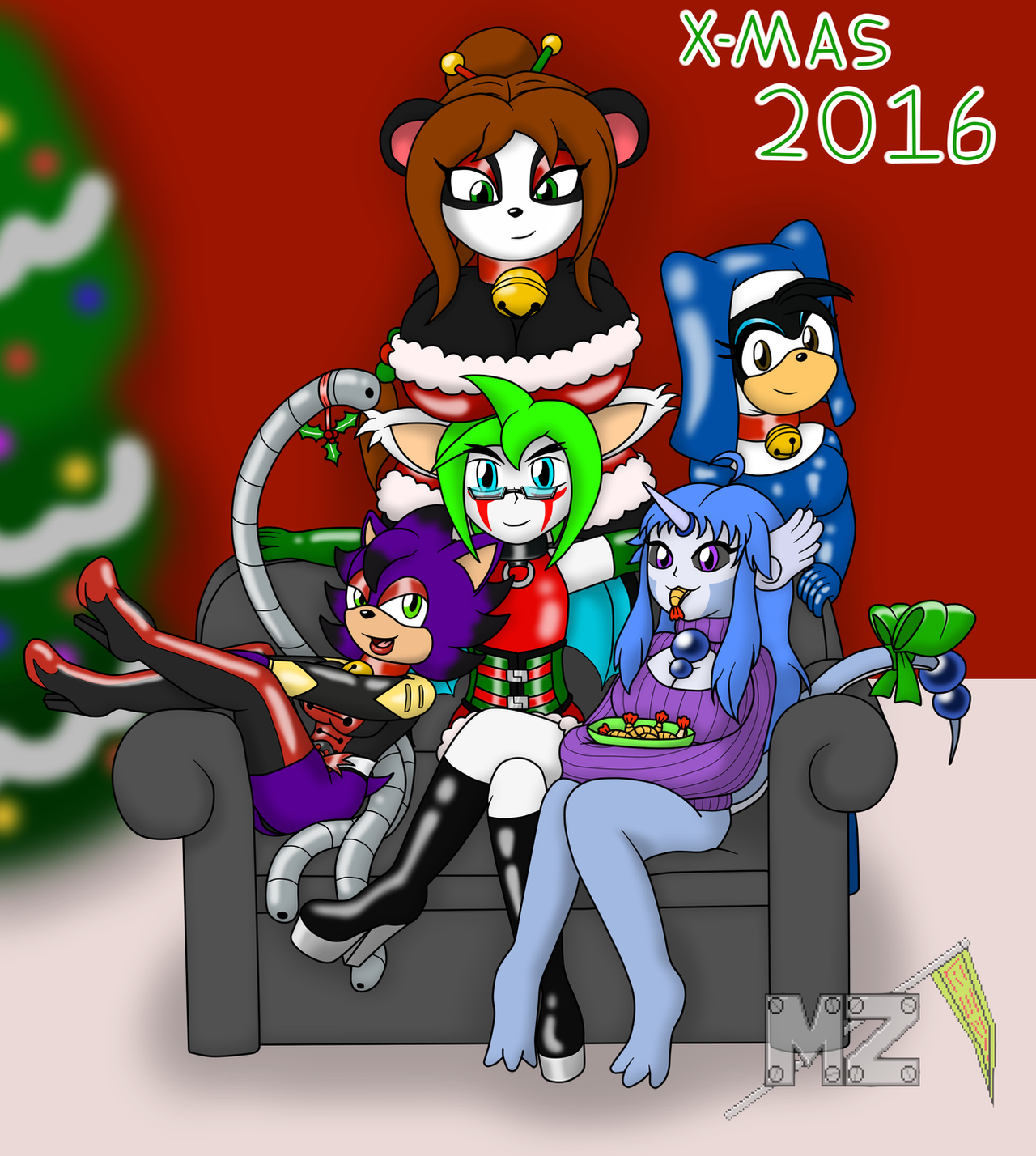 Xmas 2016 Zaki and four lovely girls. by metalzaki