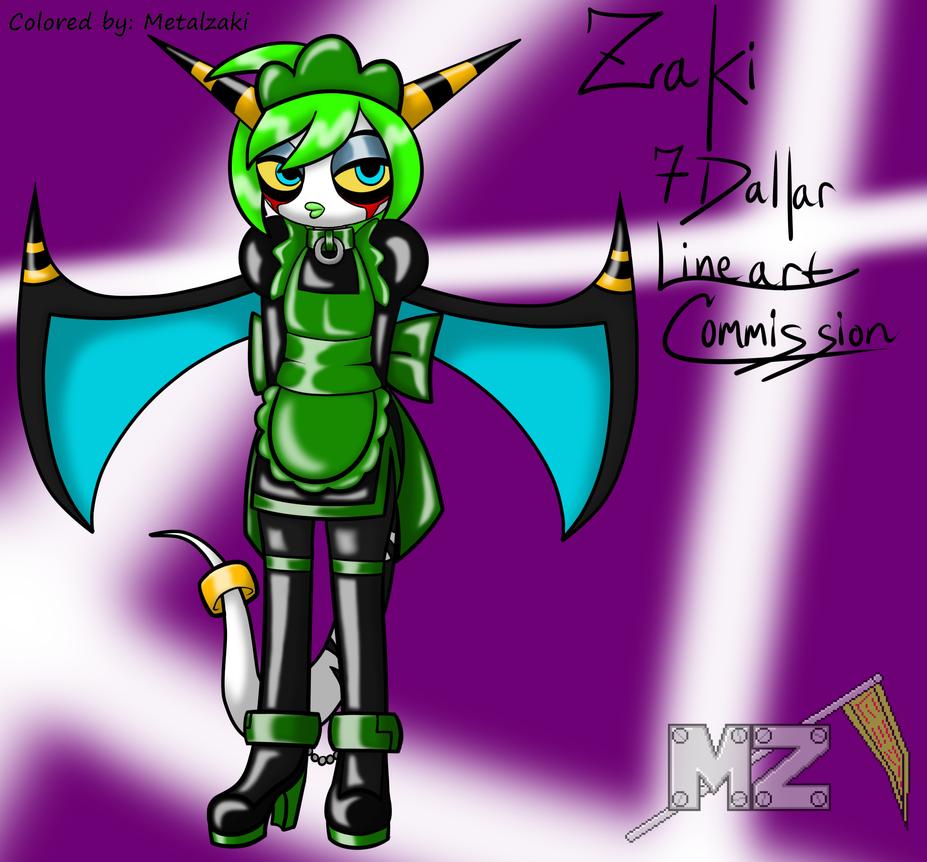 (Coloring) Maid Zeti Zaki By Reneesinnerirken by metalzaki
