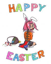 Easter Bunny Sakura by metalzaki