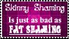 Skinny and Fat Shaming