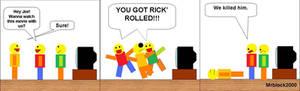 Roblox comic rick' roll