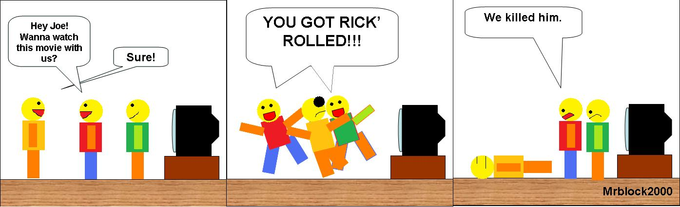 Roblox Comic Rick Roll By Rathtrainer On Deviantart