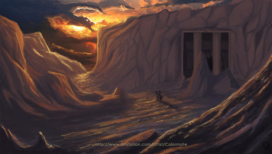 Sunset Cave by Colormate