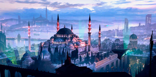 Futuristic Istanbul Sketch