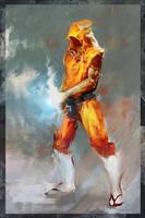 Kickass Monk by Icecoldart