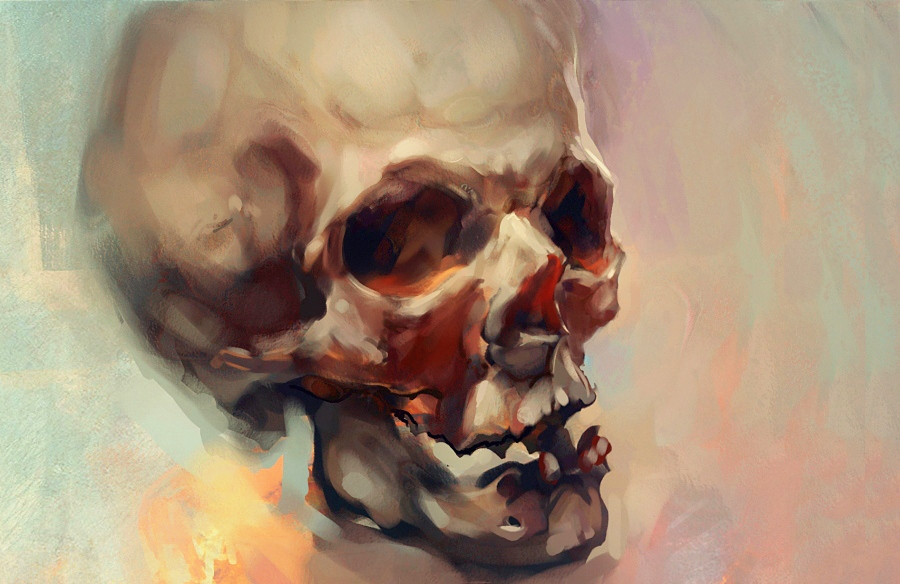 Painted Skull by Icecoldart