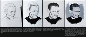 Realistic Gouache portrait tutorial/step by step