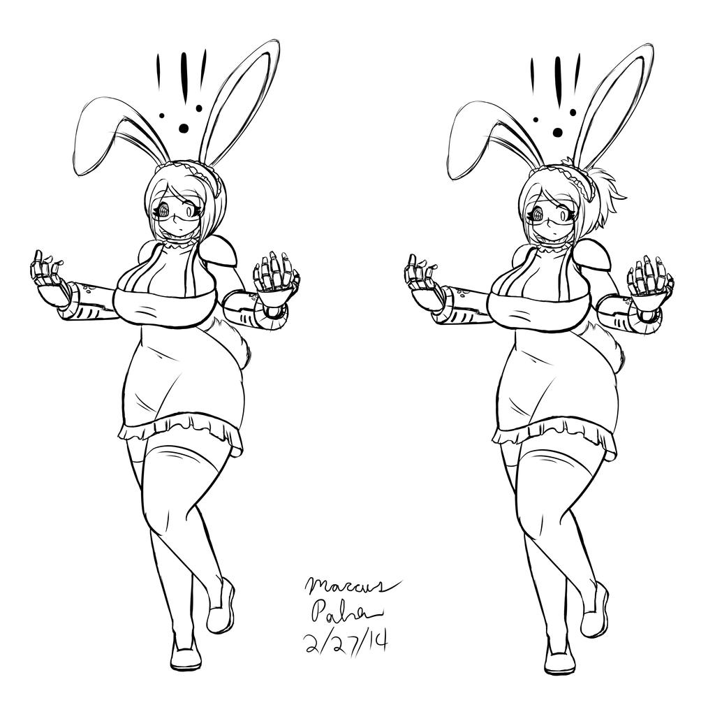 Space Bunny Cyber Maid Dani Sketch by Anubis2Pabon288
