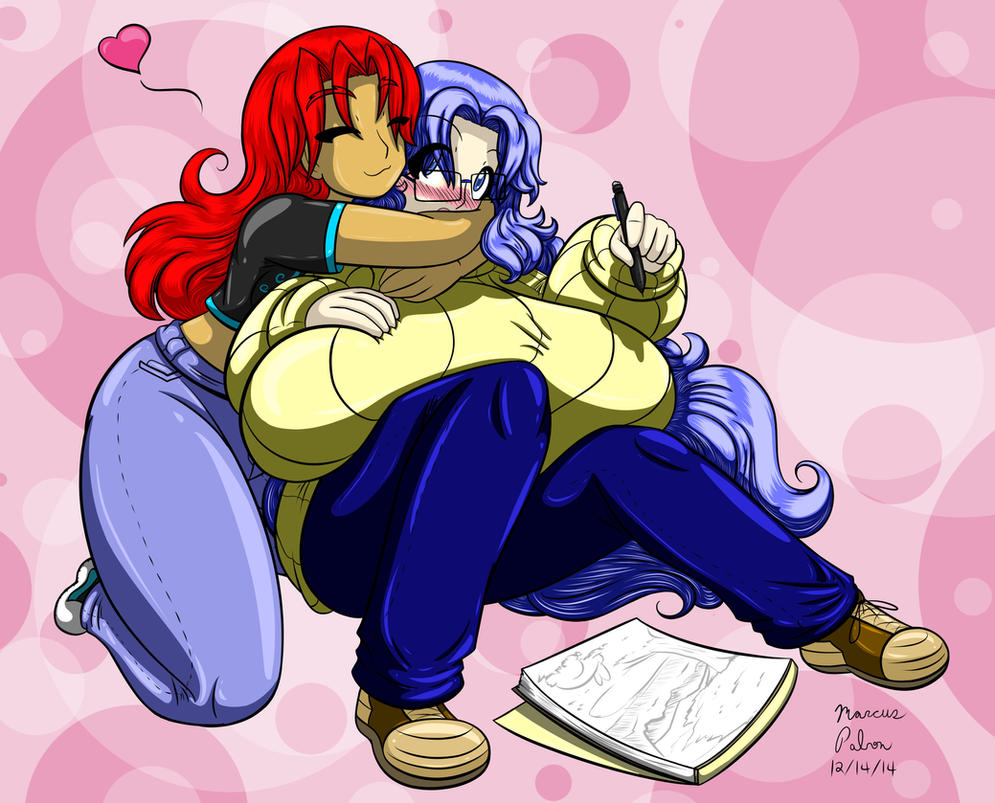 Miruku And Cheri Soft And Cuddly Colored by Anubis2Pabon288