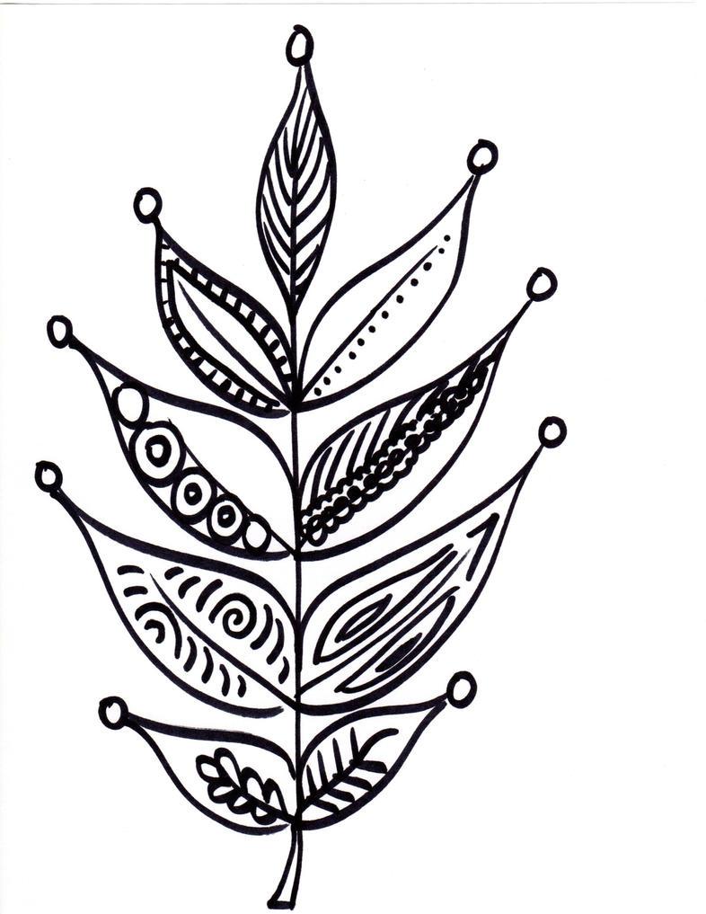 Sharpie leaf by flowerescence on DeviantArt Sharpie Art Flowers