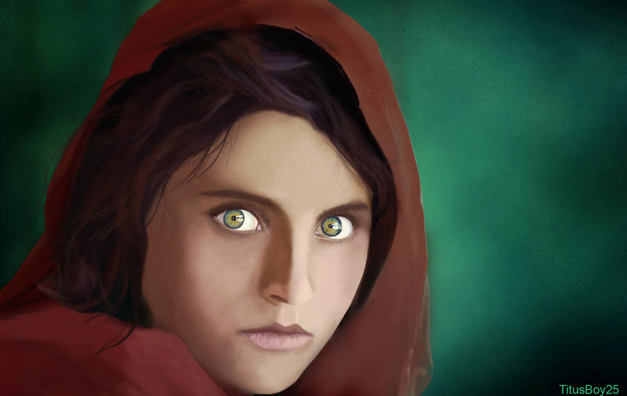 Afghan Girl by TitusBoy25