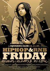 Aquarius Hip-Hop and RnB Flyer by skam4