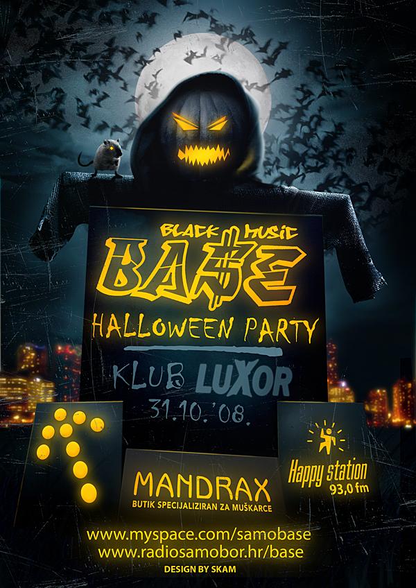 Base flyer Halloween by skam4