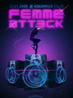 Femme Attack flyer by skam4