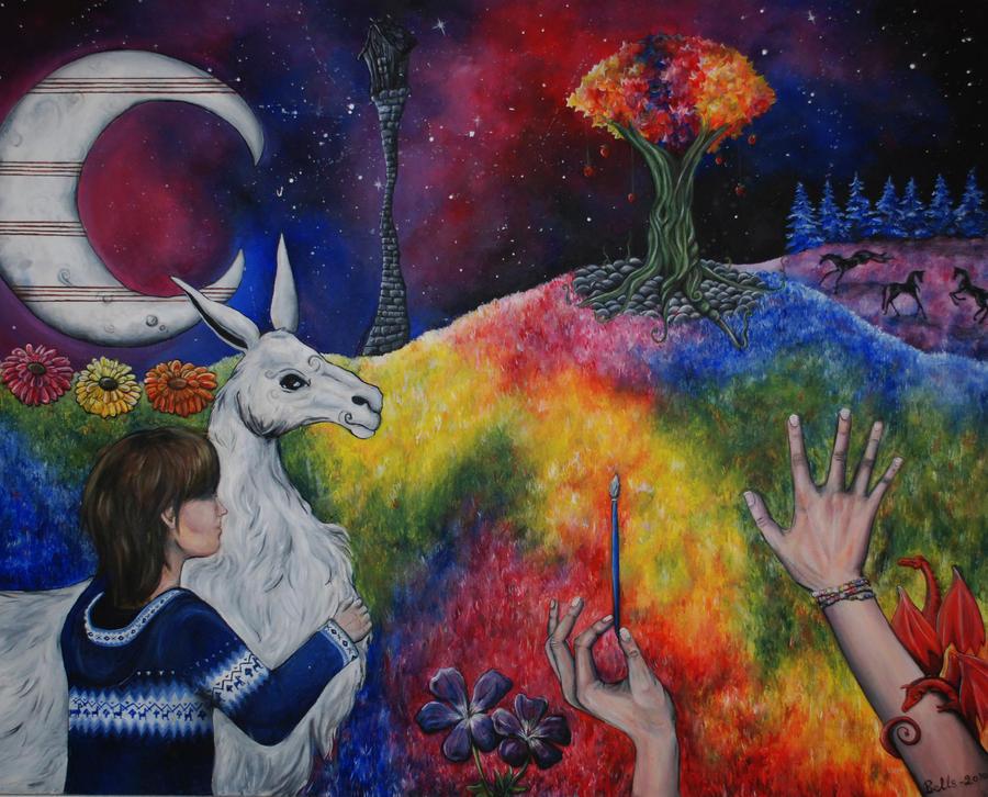 Fanstasy land of llama love by bellls