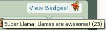 23 llama badges my lucky numba