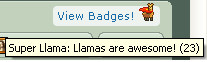 23 llama badges my lucky numba by capricious23pictures