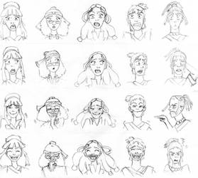 Some Old GaangJr Expression Practice by katiediazz