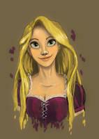 Rapunzel Portrait 2.0 by katiediazz