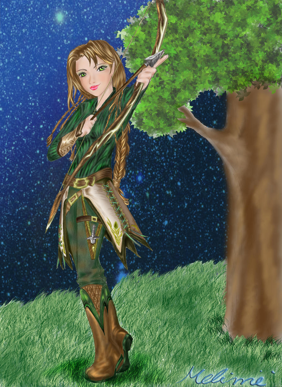 .:Elven Archer:.:Dusk:. by melime6