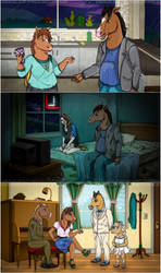 Bojack Horseman Scene Redraw Collection by Chocolate-Pyrus