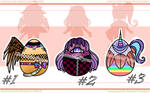 Chibi Egg Adoptable Batch 4 - !2/3 OPEN! by Chocolate-Pyrus