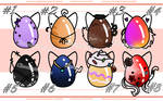 Mystery Cat Chibi Egg Adoptable 30 - !6/8 OPEN! by Chocolate-Pyrus