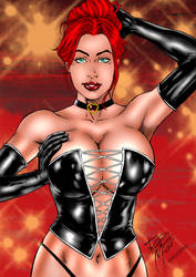 Black Queen Pinup by Ronaldo Mendes by winchester01