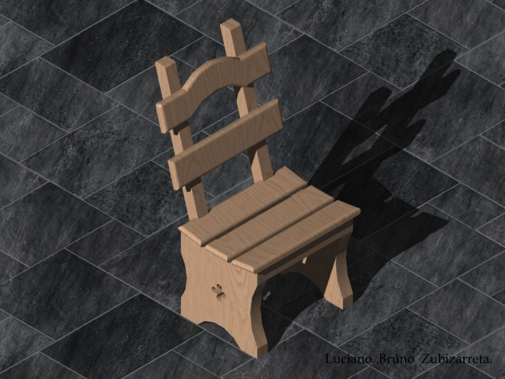 Rustic chair 3d concept by lubruz on deviantart for Rustic concept