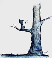 Cat on a tree by LauraMSS