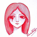Sadness in red