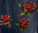 Roses jeans - detail