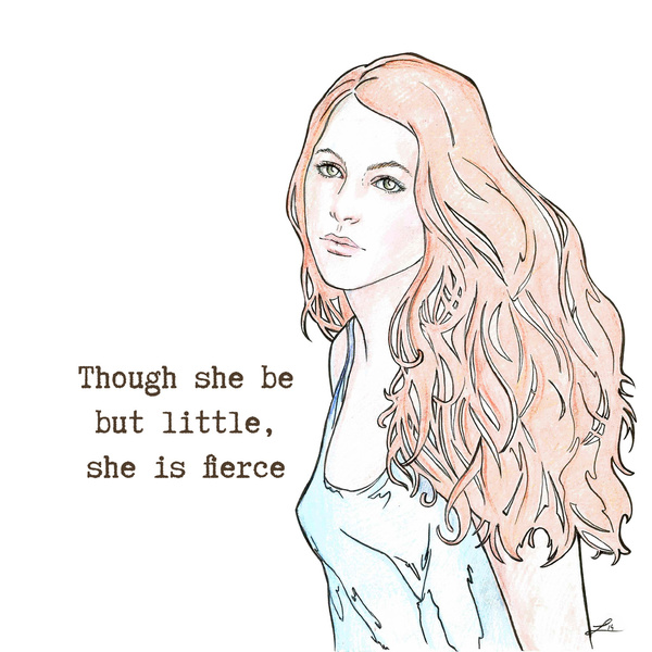 Though she be but little, she is fierce by LauraMSS