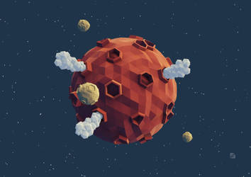 Volcanic planet
