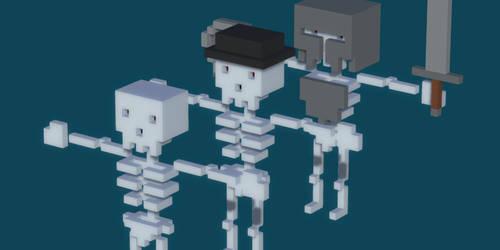 Voxel Skeleton Pack