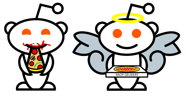 random acts of pizza redditalien logo by feiticeirarose