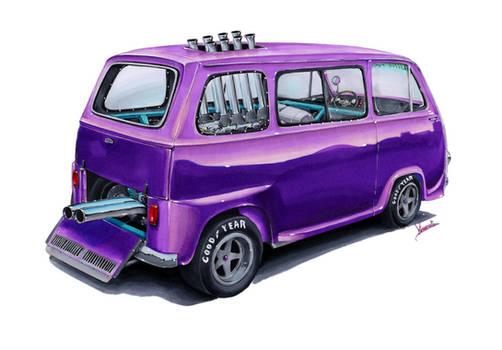 Subaru Sambar 360 Little Purple Wagon