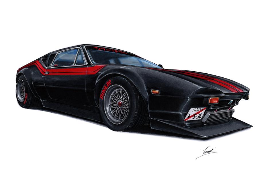 De Tomaso Pantera Street Racer by vsdesign69