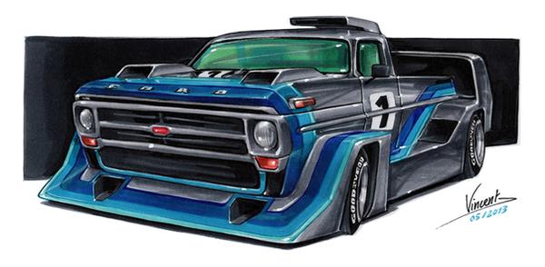 Ford F100 Aero-Silhouette by vsdesign69