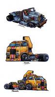 Killer Trucks Sketches 2