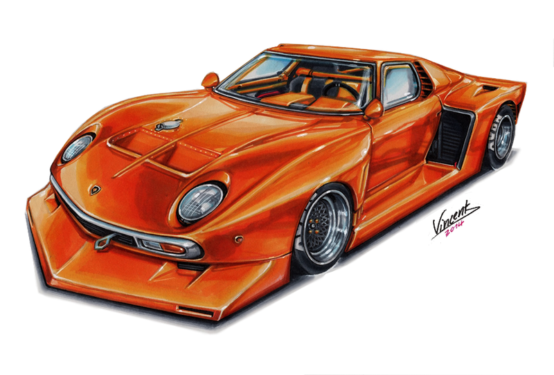 Lamborghini miura le mans by vsdesign69 on deviantart for Design piscine le mans