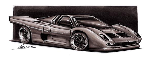 Lamborghini Miura Le Mans II by vsdesign69