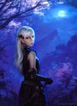 Elven Girl by Moonlight